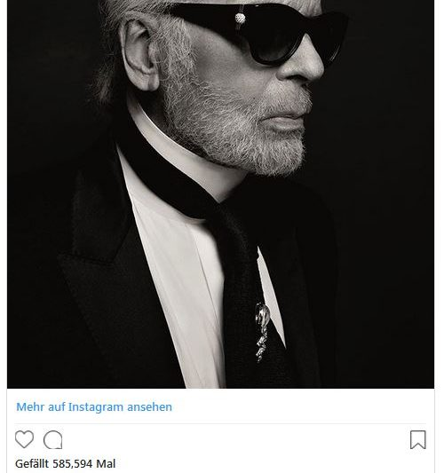 Modezar Karl Lagerfeld ist tot